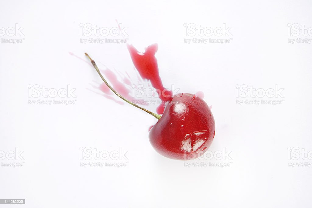 Crushed Cherry royalty-free stock photo