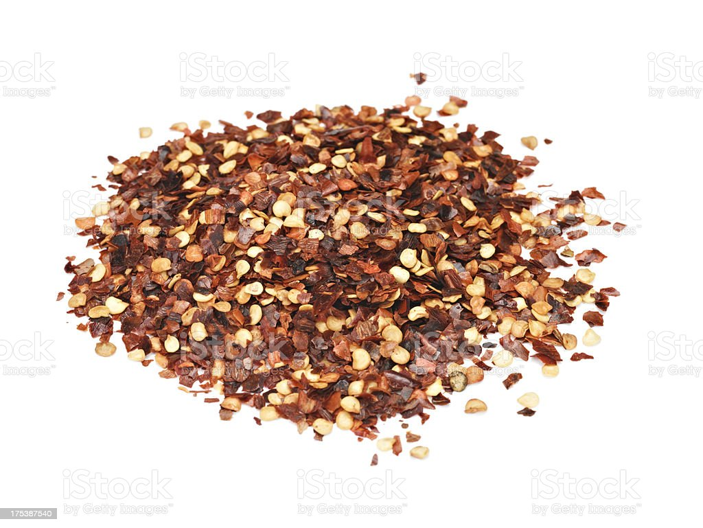 Crushed chili Pepper stock photo