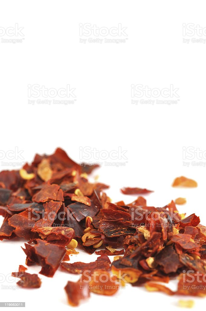 Crushed Chilli Pepper stock photo