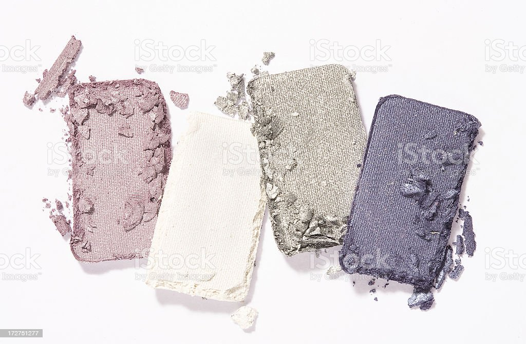 Crushed eye shadows-1 royalty-free stock photo