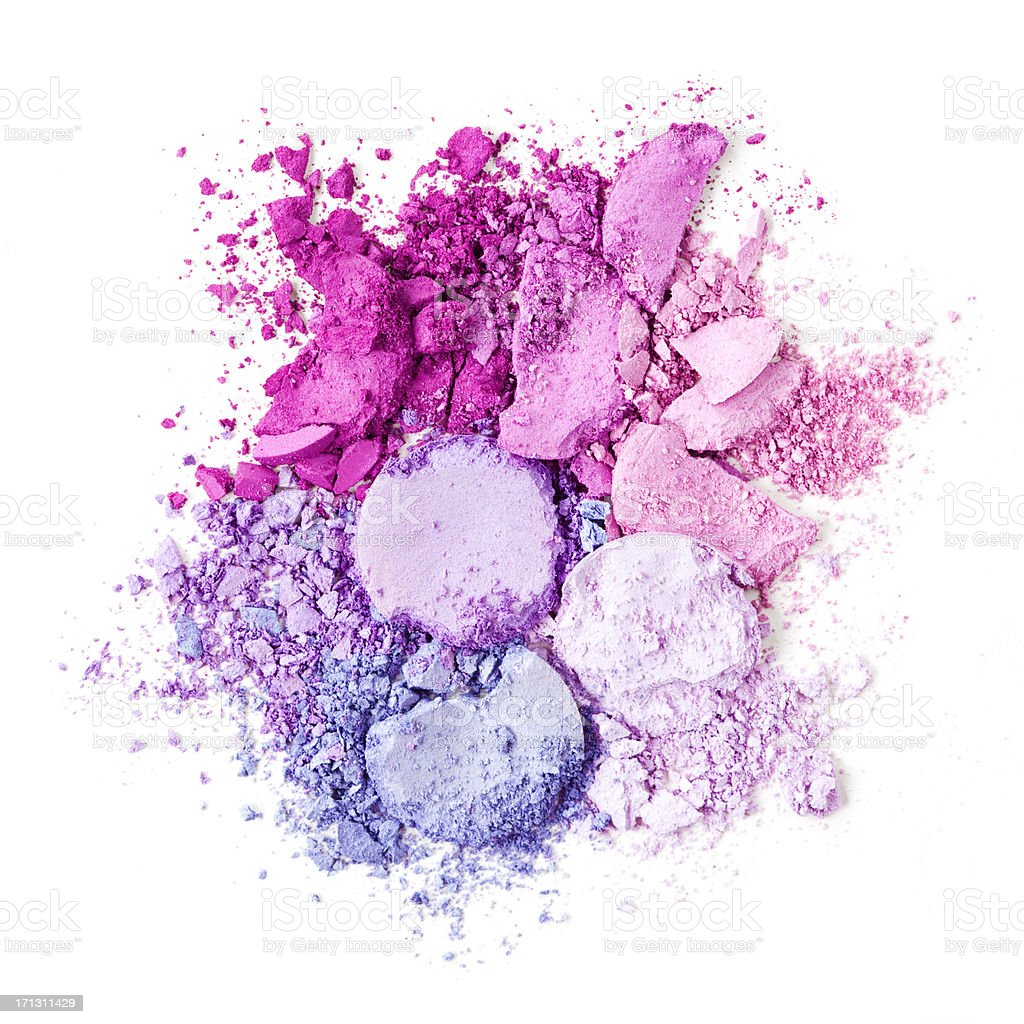 Crushed Eyeshadow royalty-free stock photo
