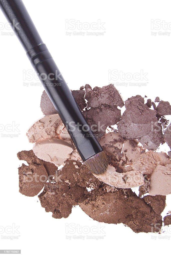 crushed eyeshadows royalty-free stock photo