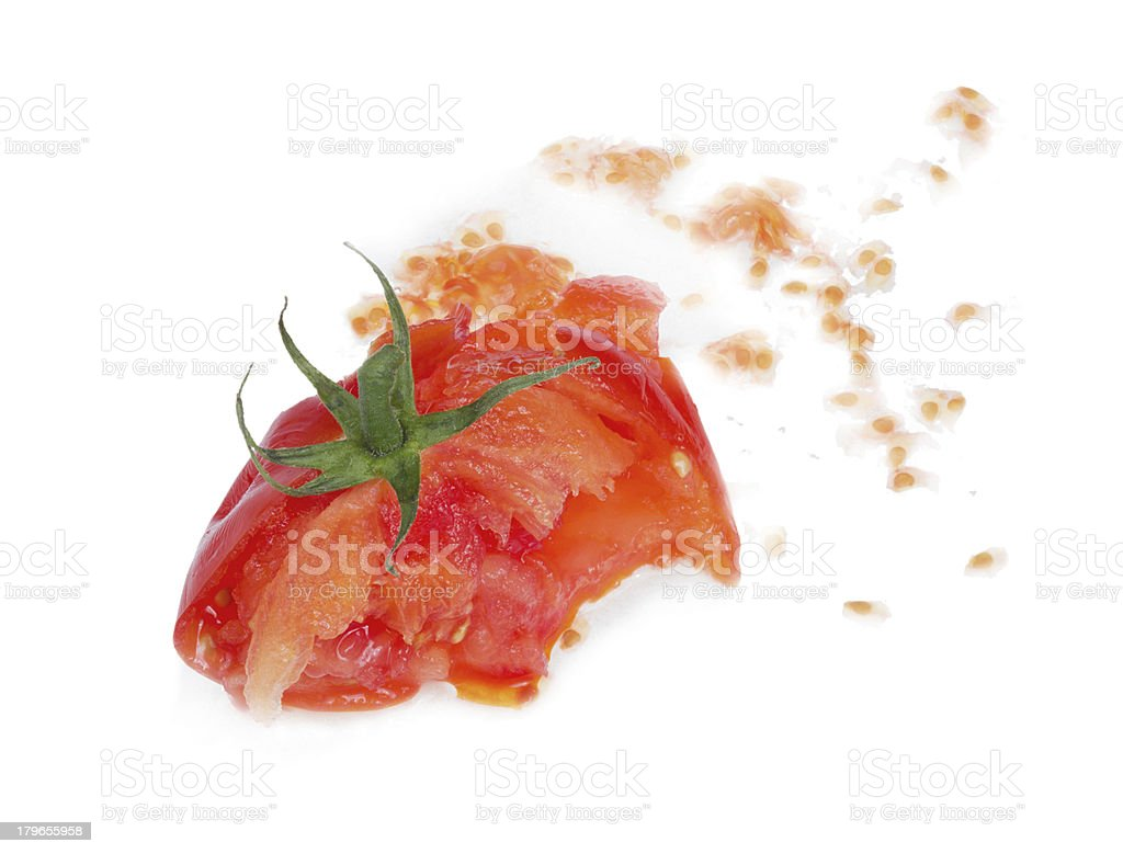 Crushed  fresh tomato. royalty-free stock photo