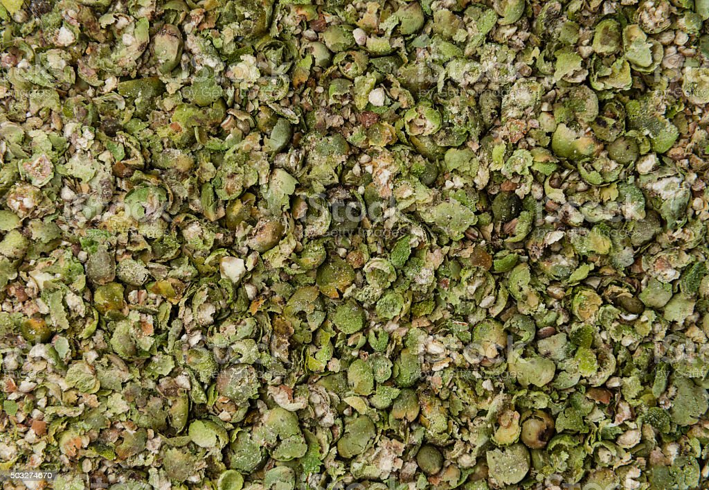 Crushed green Peppercorns (texture) stock photo