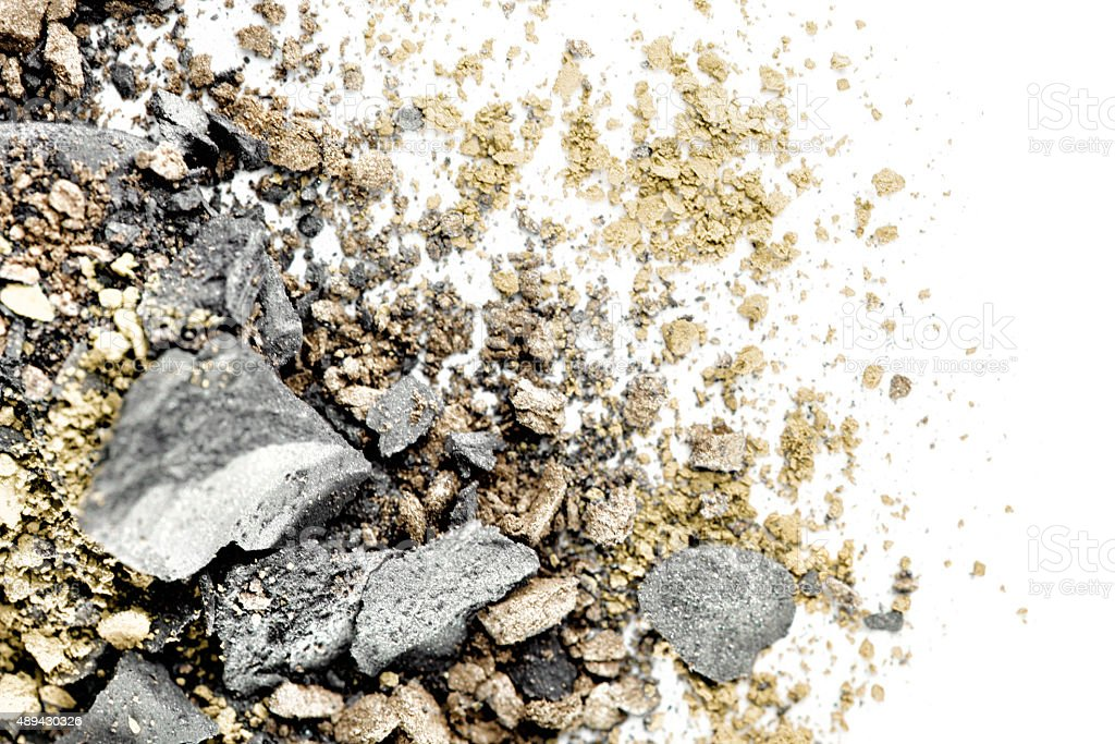 Crushed Grey and Gold Eyeshadow stock photo