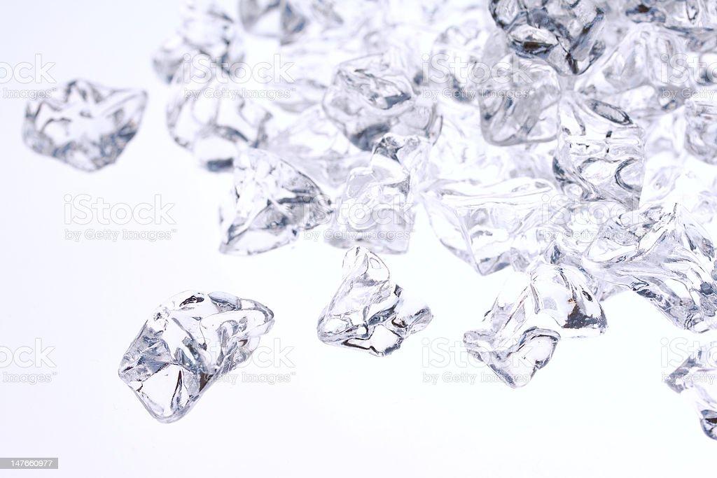 Crushed ice background stock photo