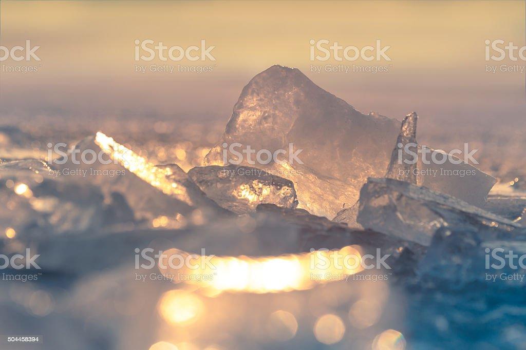 Crushed ice. stock photo