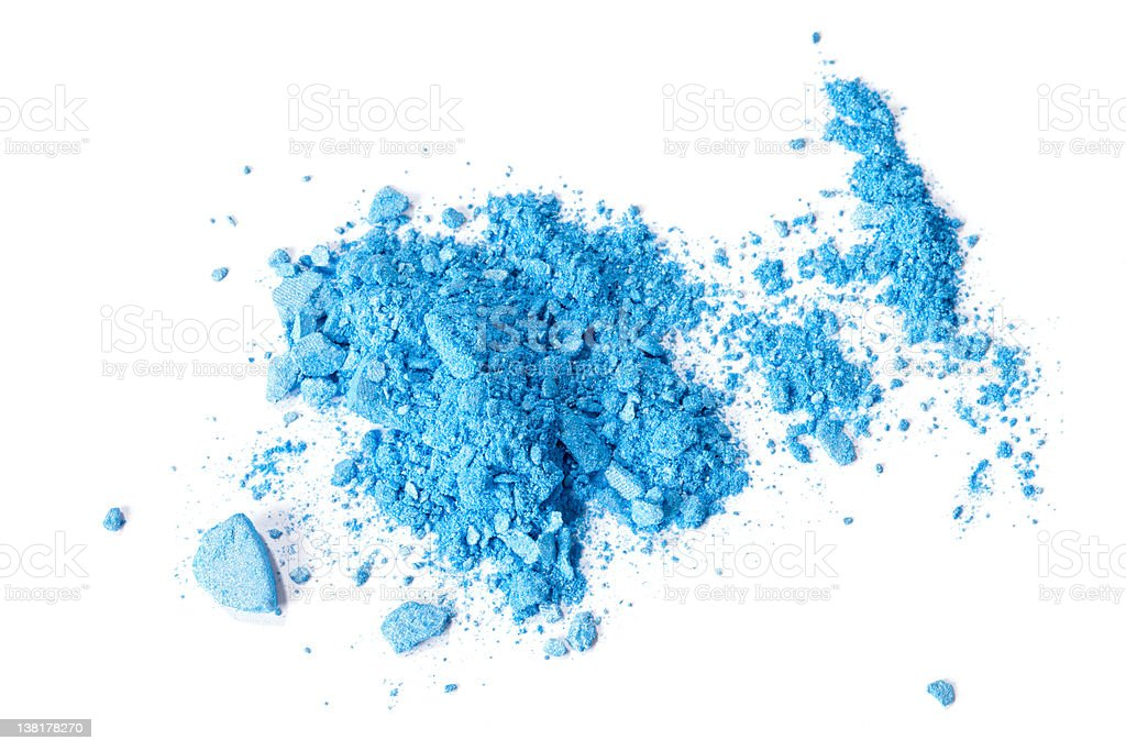 Crushed makeup eyeshadow royalty-free stock photo