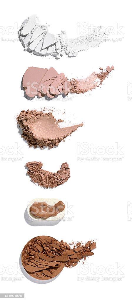 Crushed Makeup stock photo