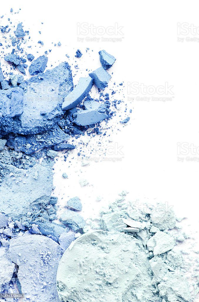 Crushed Makeup stock photo
