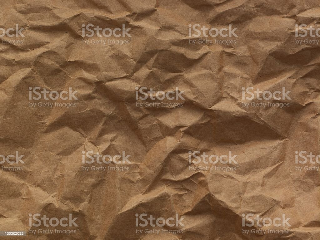 Crushed Paper Background royalty-free stock photo