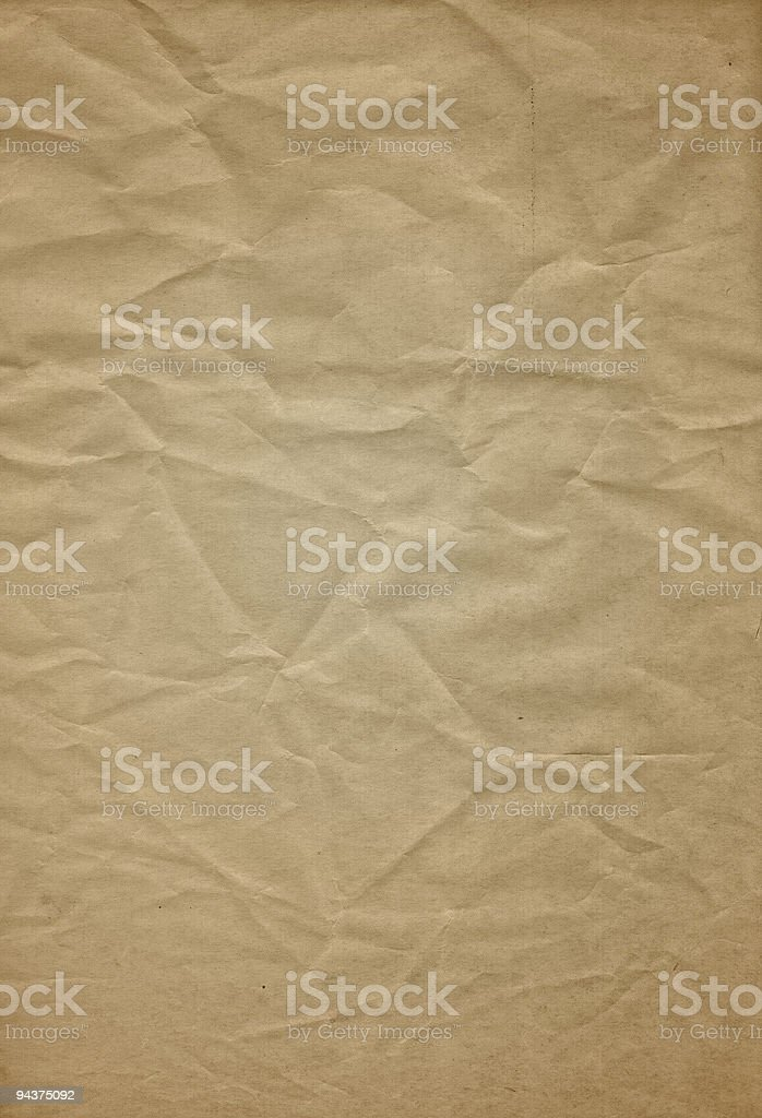 Crushed paper texture royalty-free stock photo