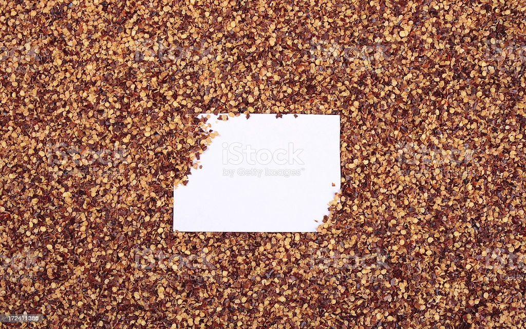 Crushed Pepper Note stock photo
