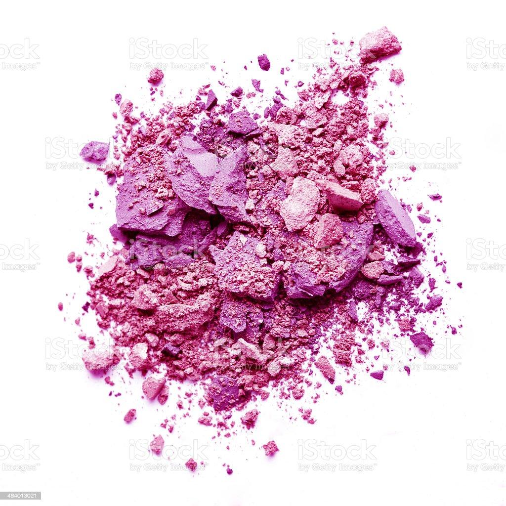 Crushed pink eyeshadow royalty-free stock photo