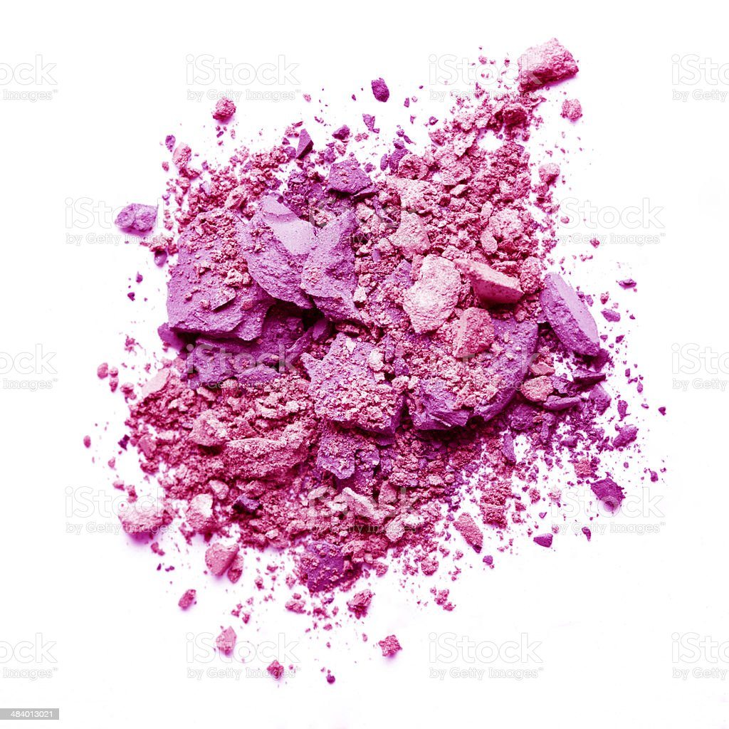 Crushed pink eyeshadow stock photo