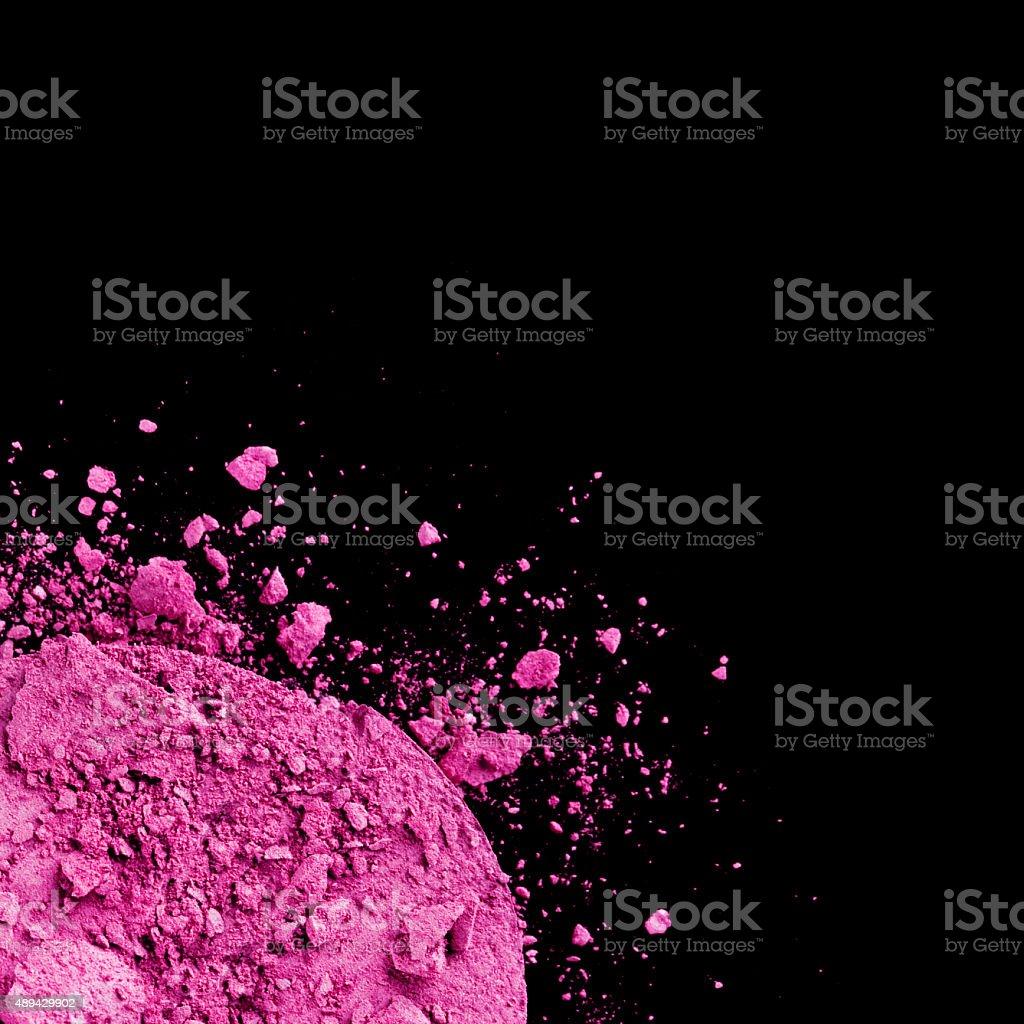 Crushed Pink Eyeshadow stock photo