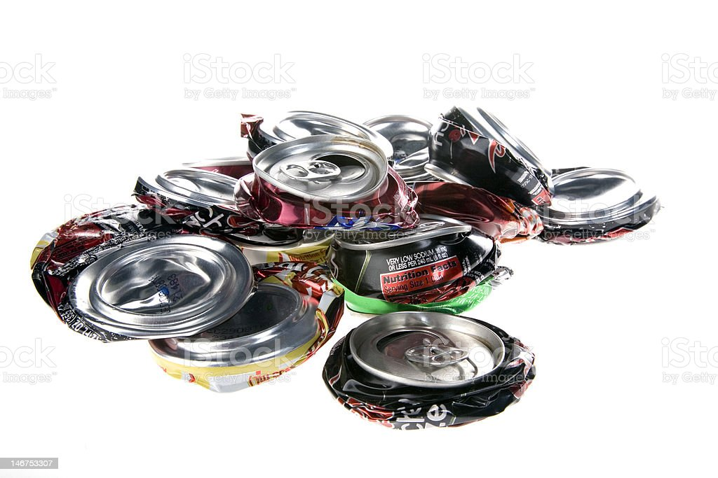 Crushed Pop Cans royalty-free stock photo