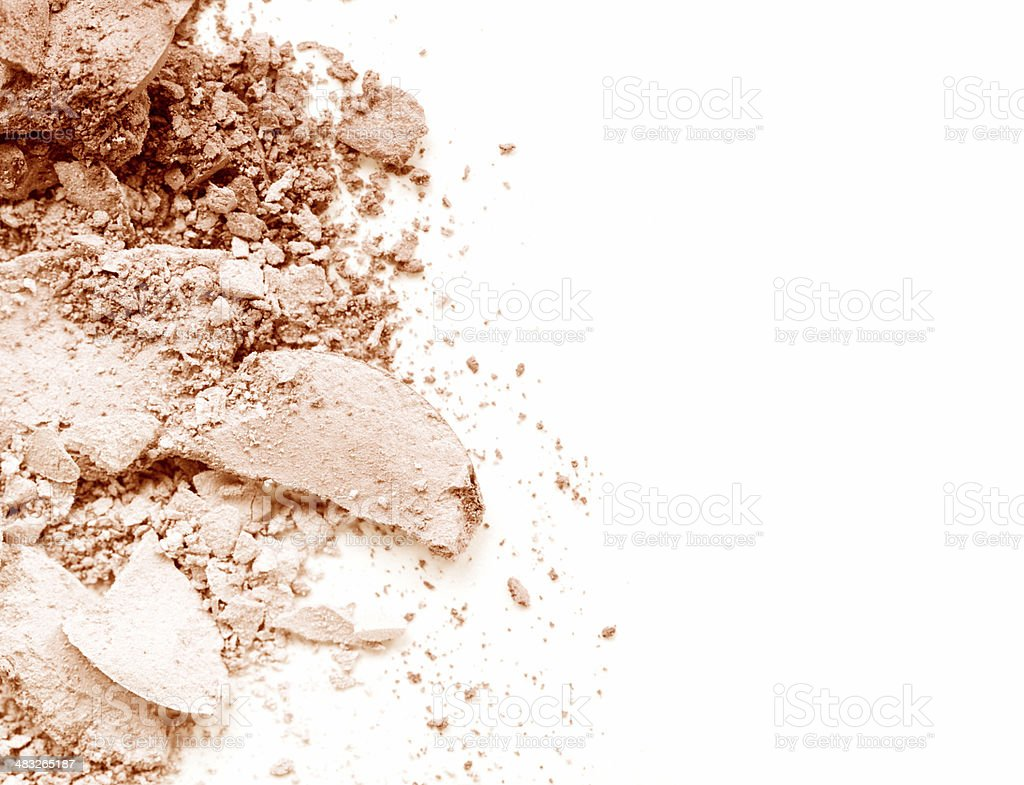 Crushed Pressed Powder Foundation royalty-free stock photo