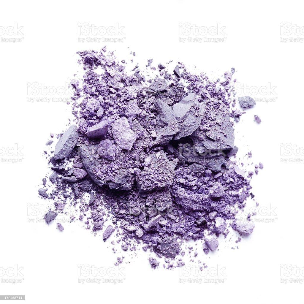 Crushed Purple Eyeshadow royalty-free stock photo