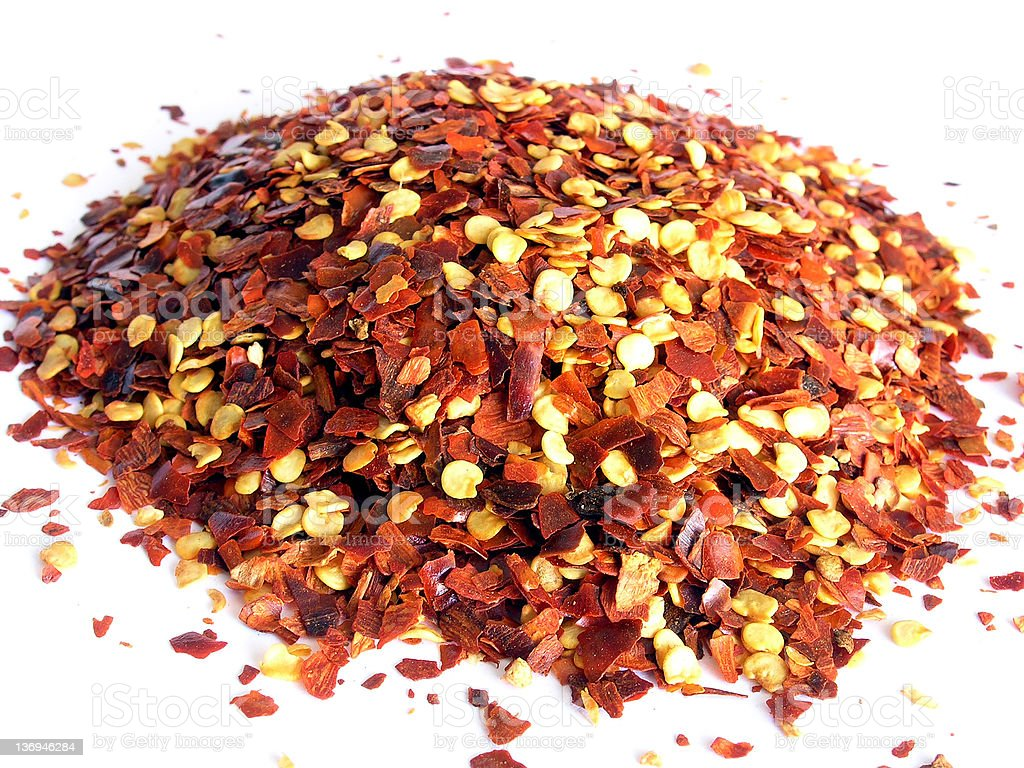 Crushed Red Chilli Pepper. royalty-free stock photo