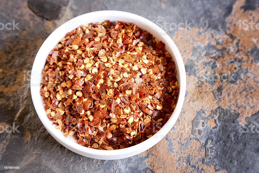 Crushed Red Pepper stock photo