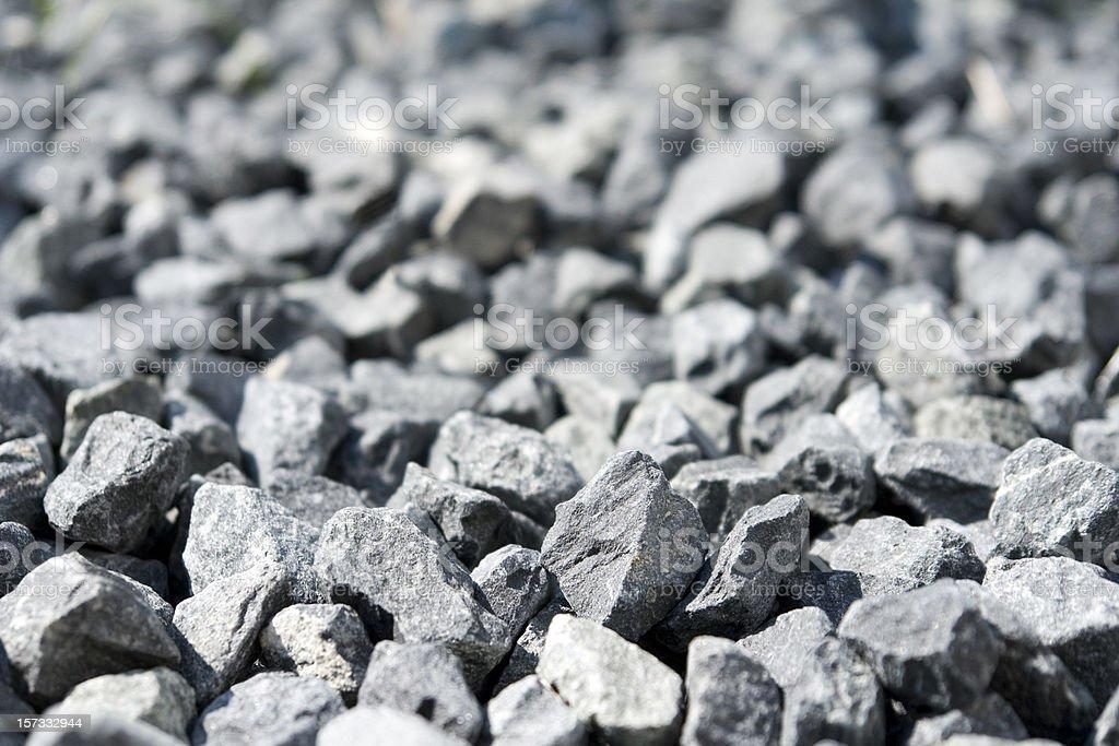 Crushed rock / gravel granite close-up. stock photo