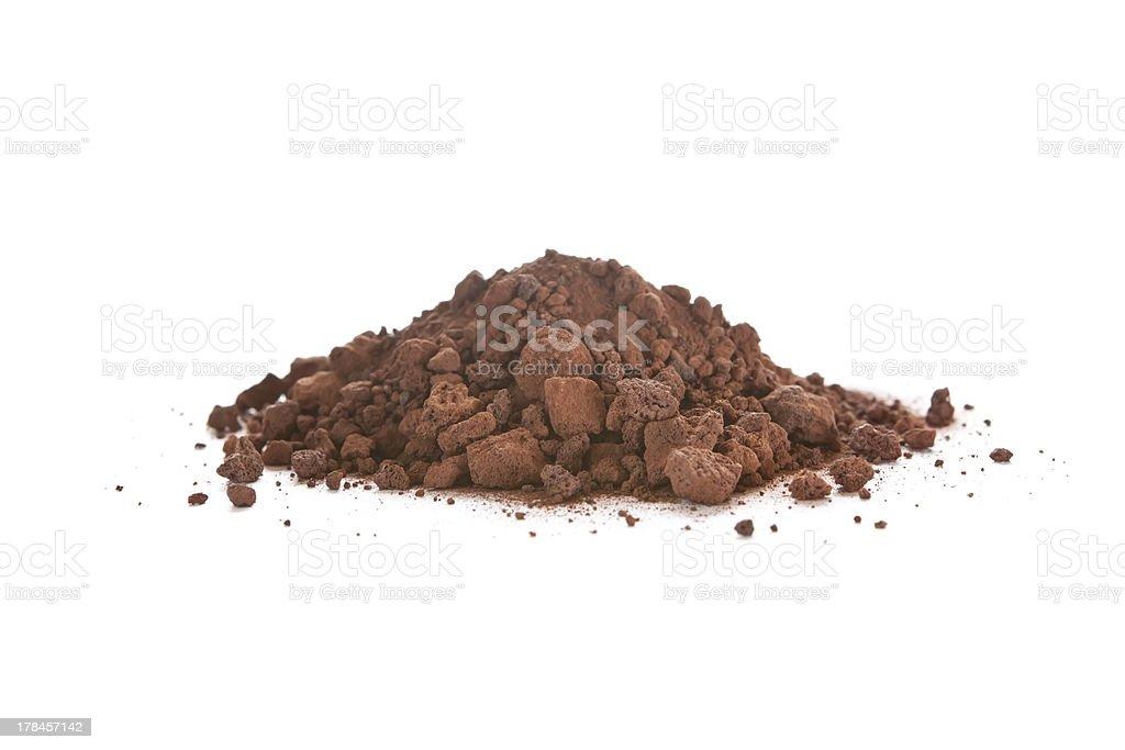 crushed scoria, also called lava rock stock photo