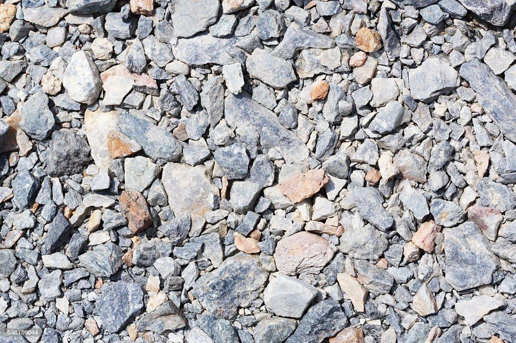 Crushed stone stock photo