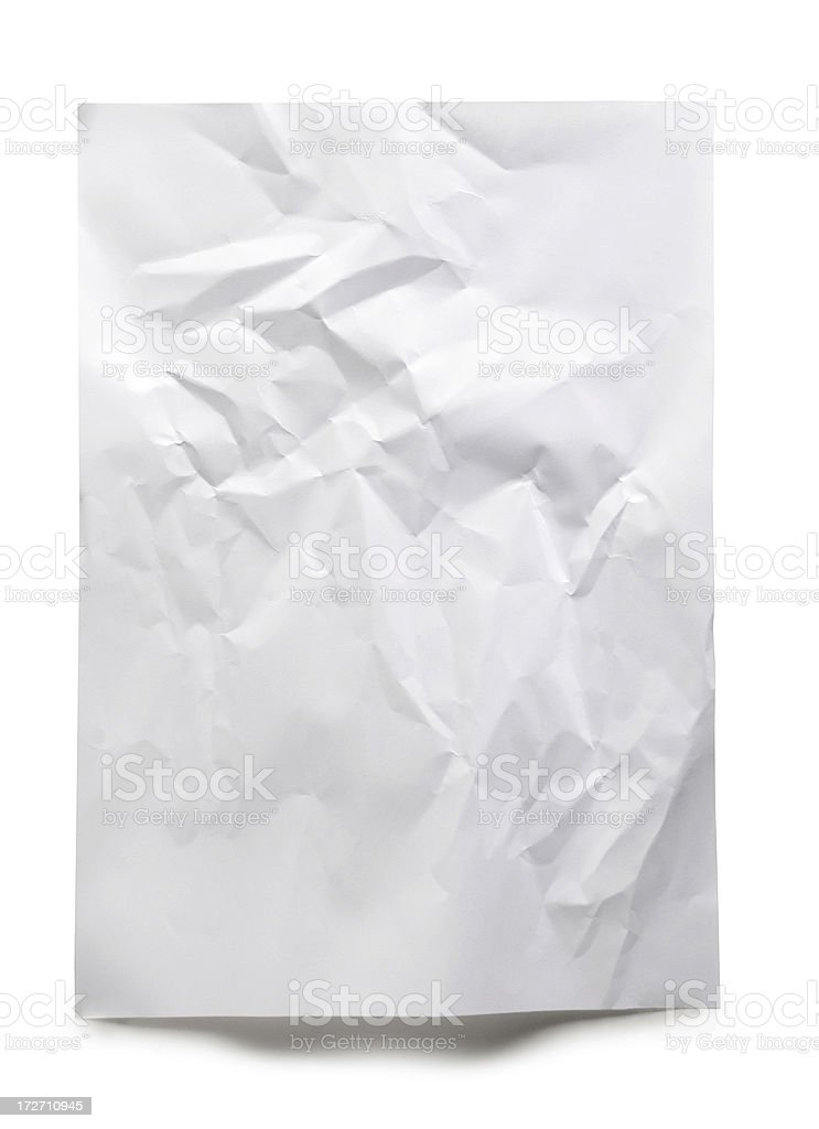 Crushed Textured Paper stock photo