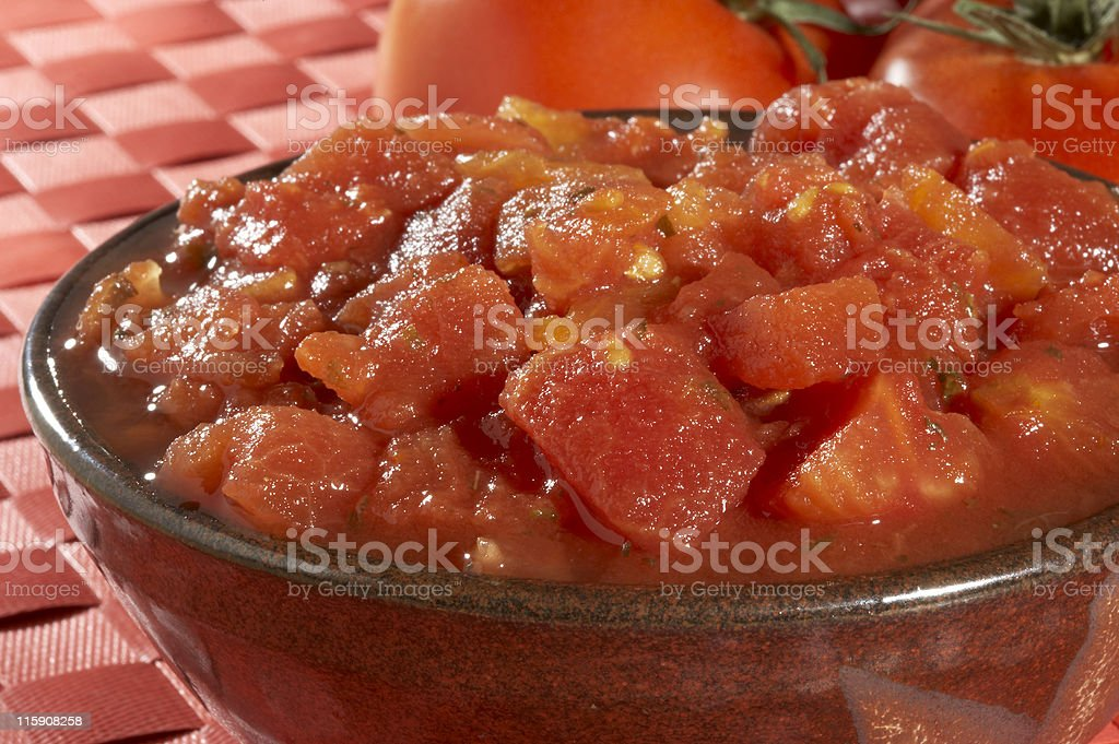 Crushed tomatoes royalty-free stock photo