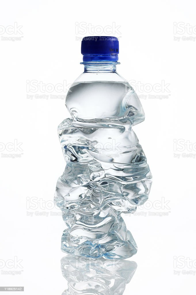 Crushed Water Bottle royalty-free stock photo