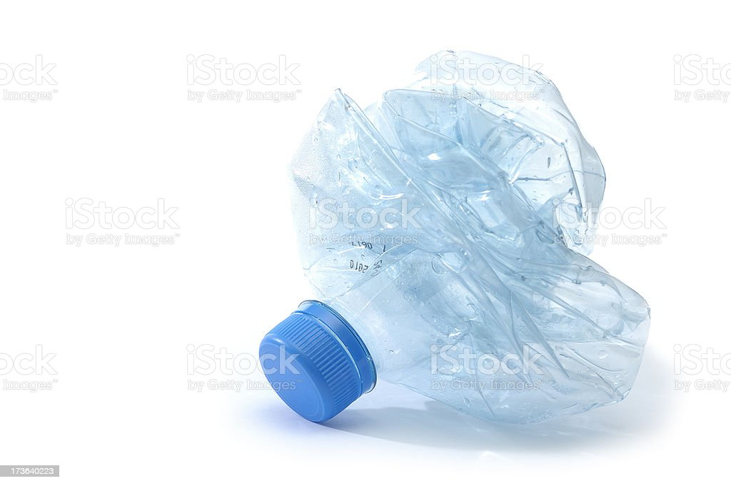 Crushed Water Bottle stock photo