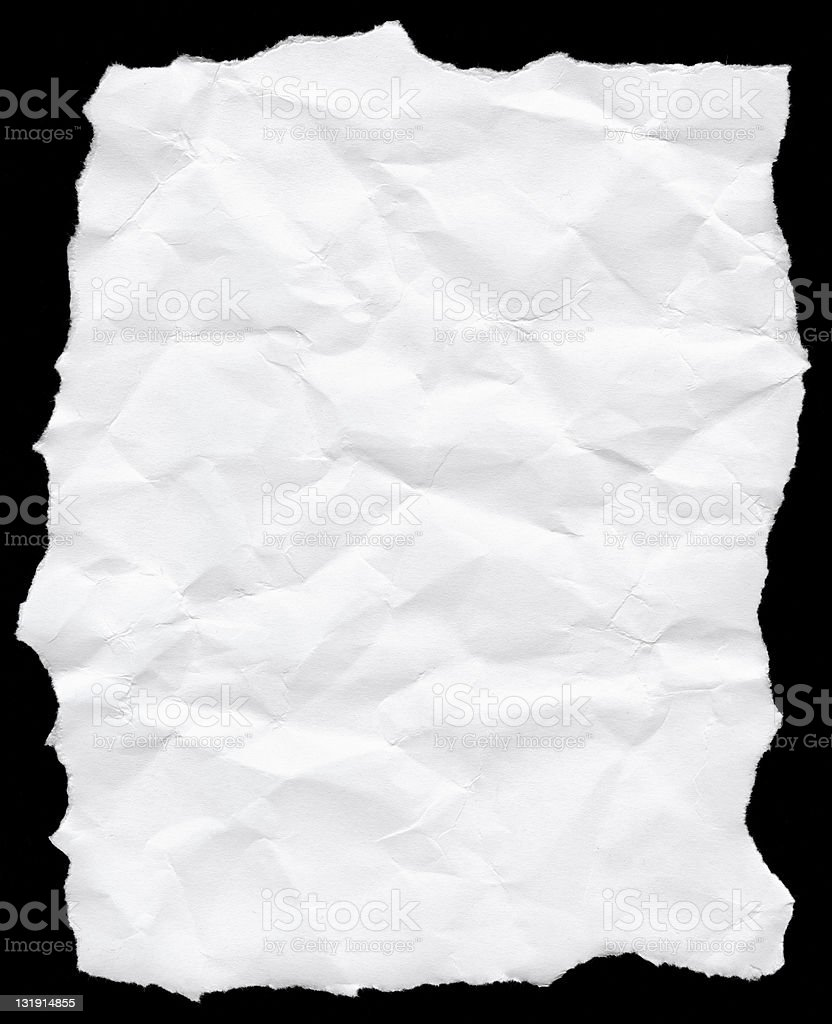 Crushed white paper texture royalty-free stock photo