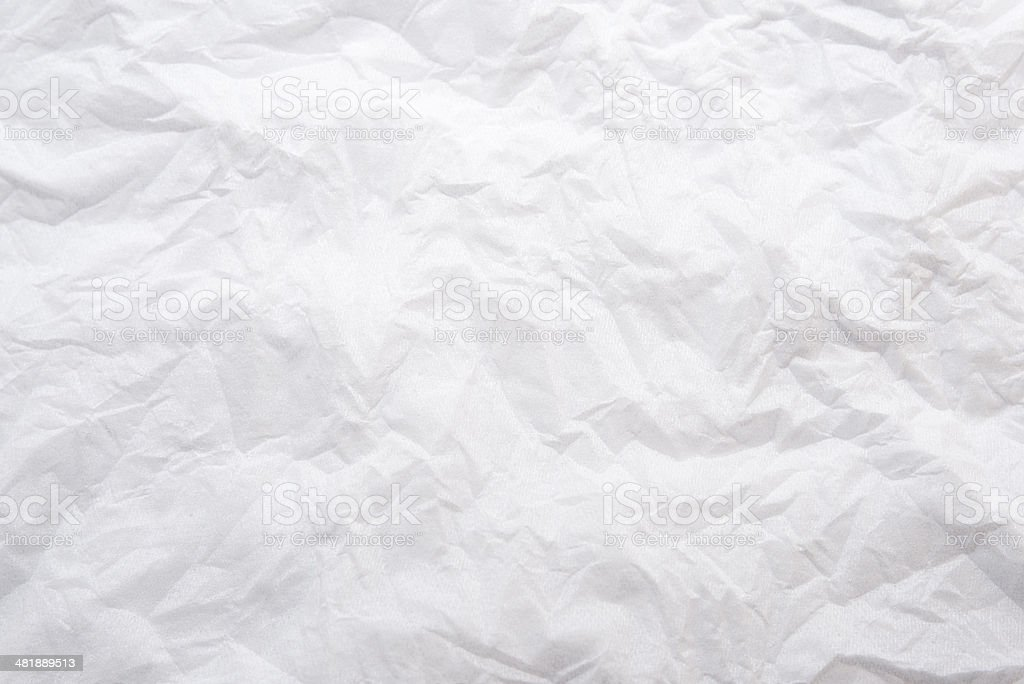crushed white papere stock photo