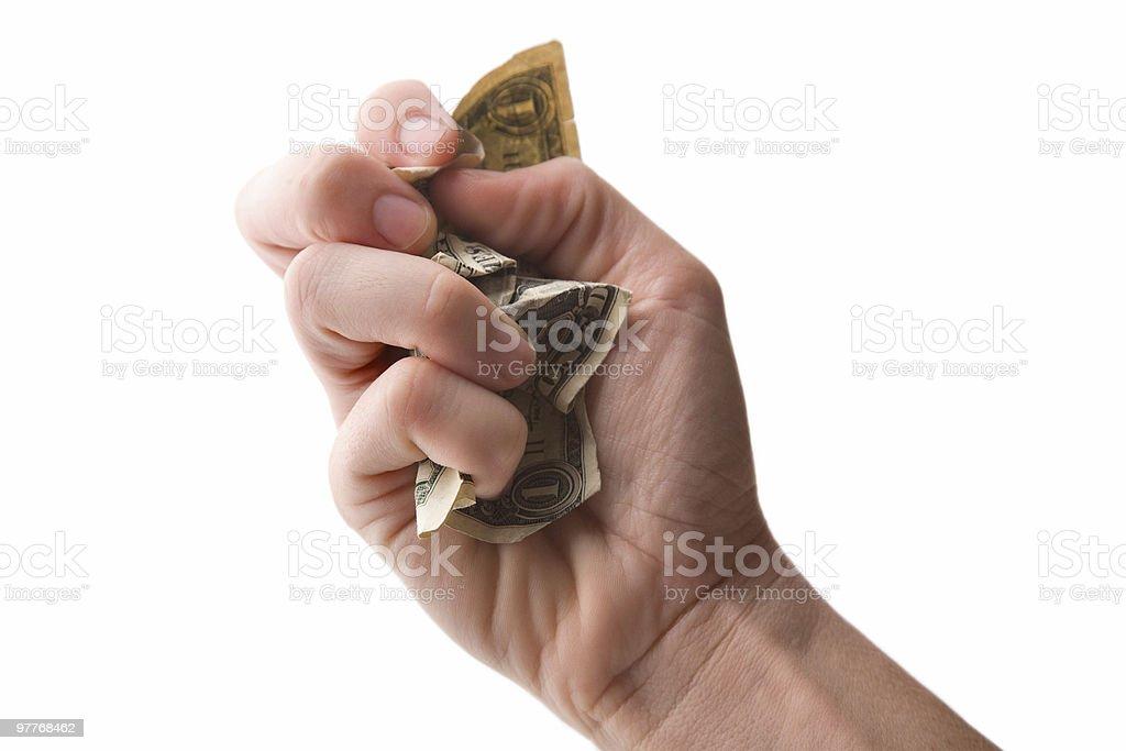 Crushing Dollar royalty-free stock photo