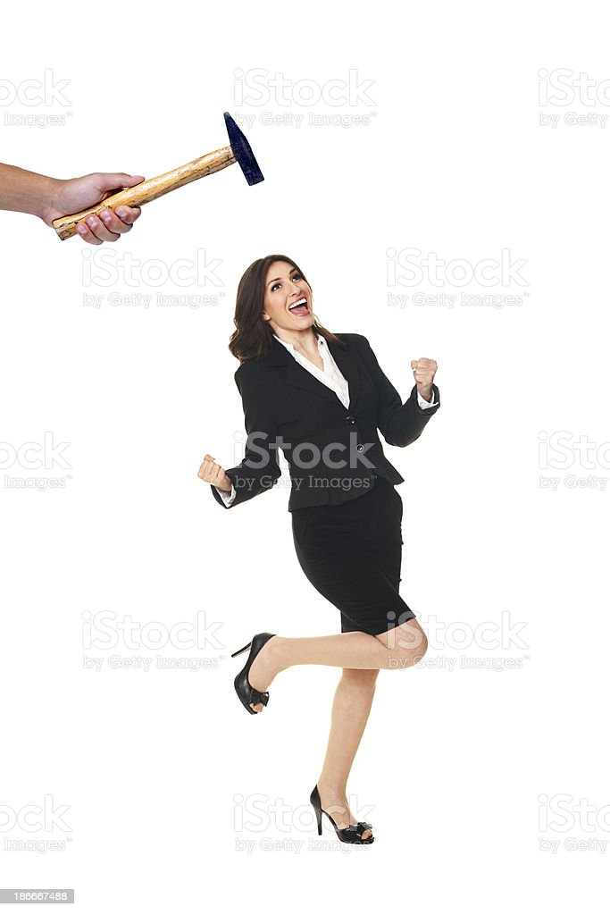 Crushing the Competition royalty-free stock photo