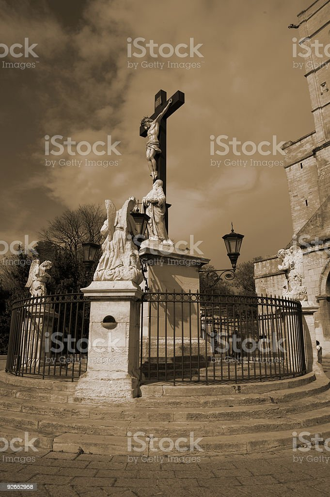 Crusifiction of Christ royalty-free stock photo