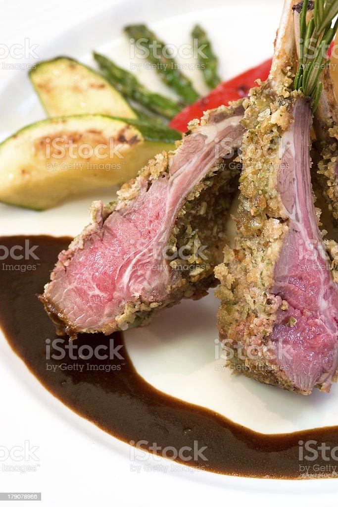 Crusted Lamb Chops royalty-free stock photo
