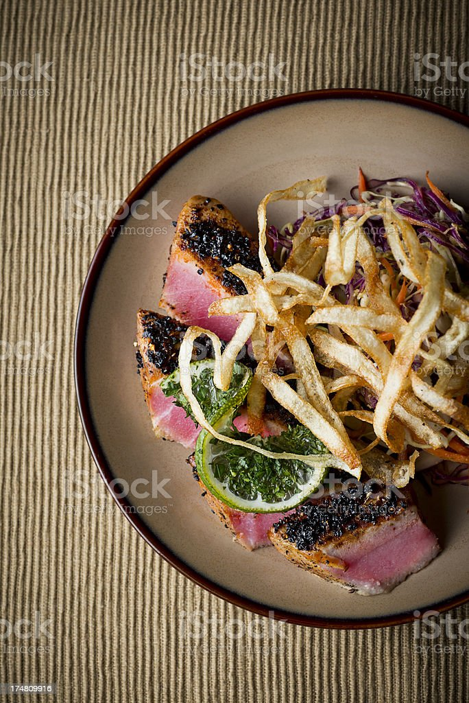 Crusted Tuna royalty-free stock photo