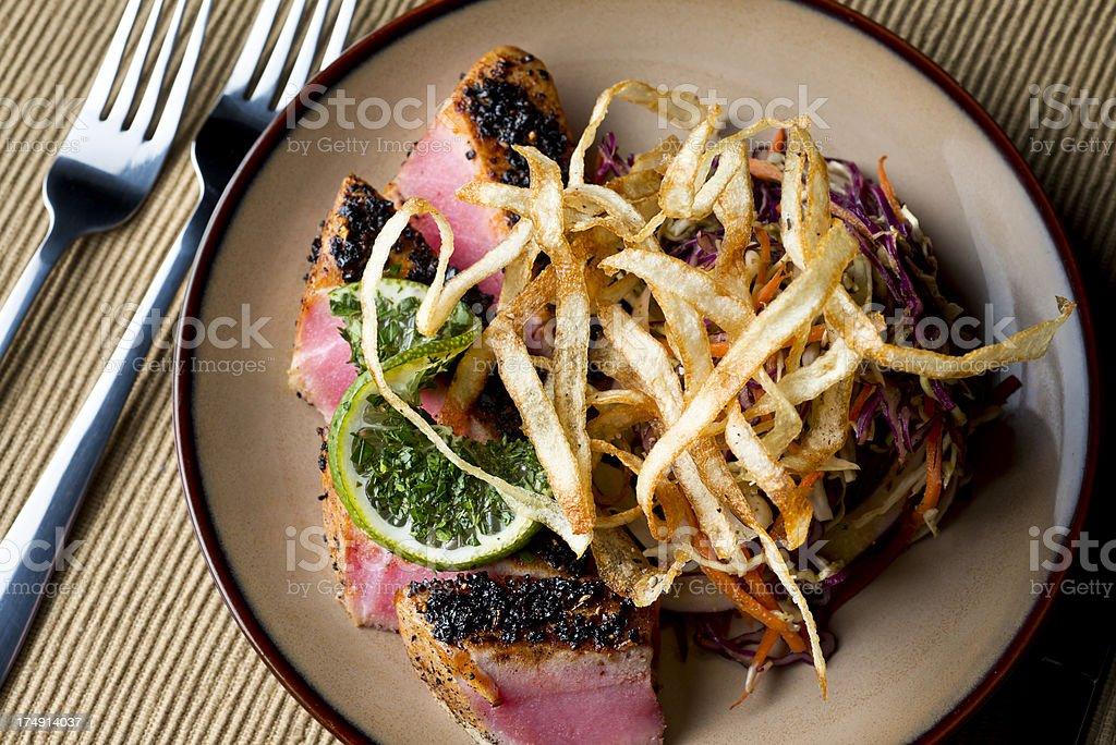 Crusted Tuna royalty-free stock photo