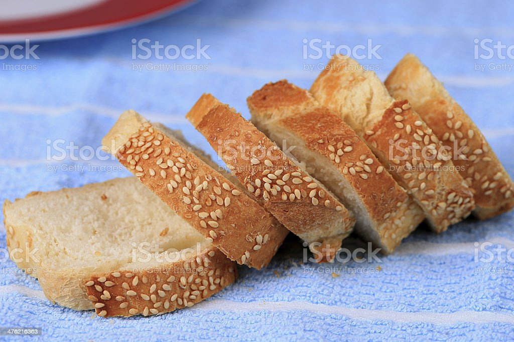 Crusty Baguette royalty-free stock photo
