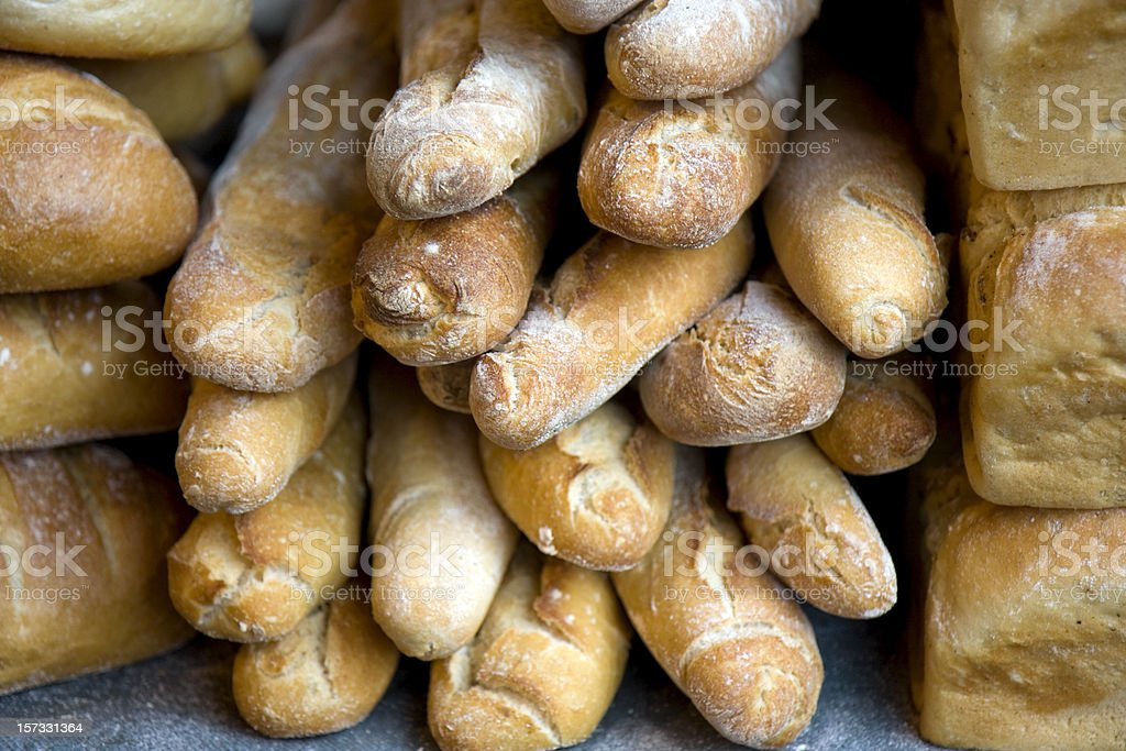 Crusty loaves stock photo