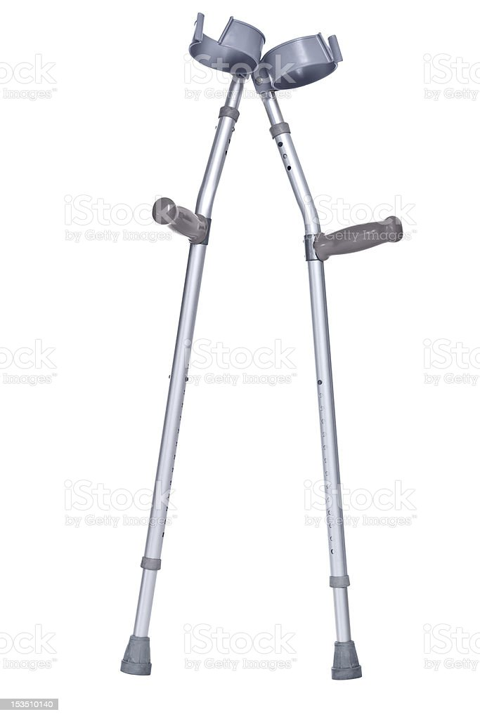Crutches isolated clipping path stock photo