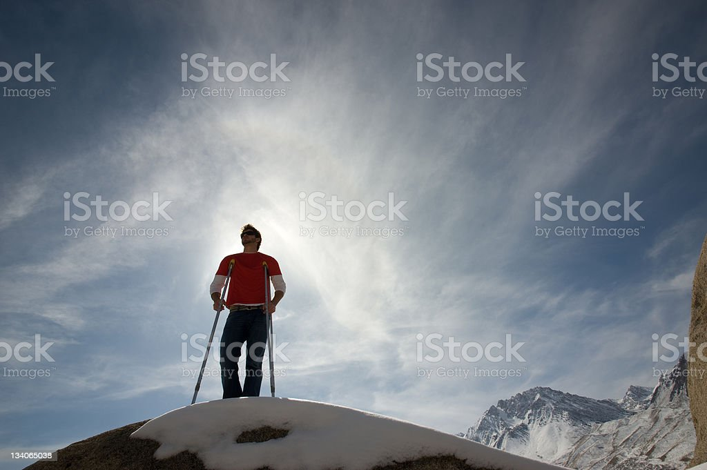crutches royalty-free stock photo