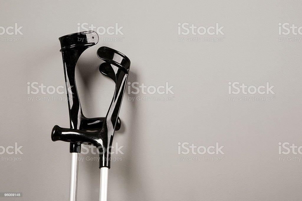 crutches stock photo