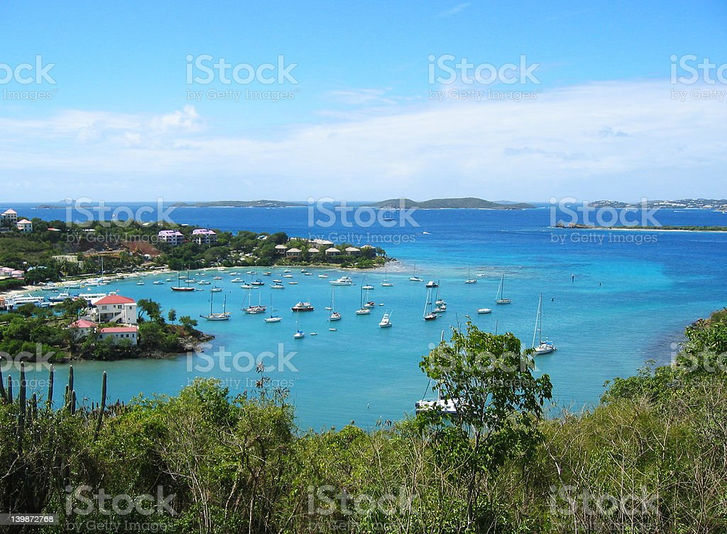 Cruz Bay St. John stock photo