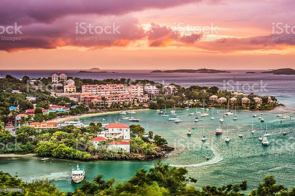 Cruz Bay, St John stock photo