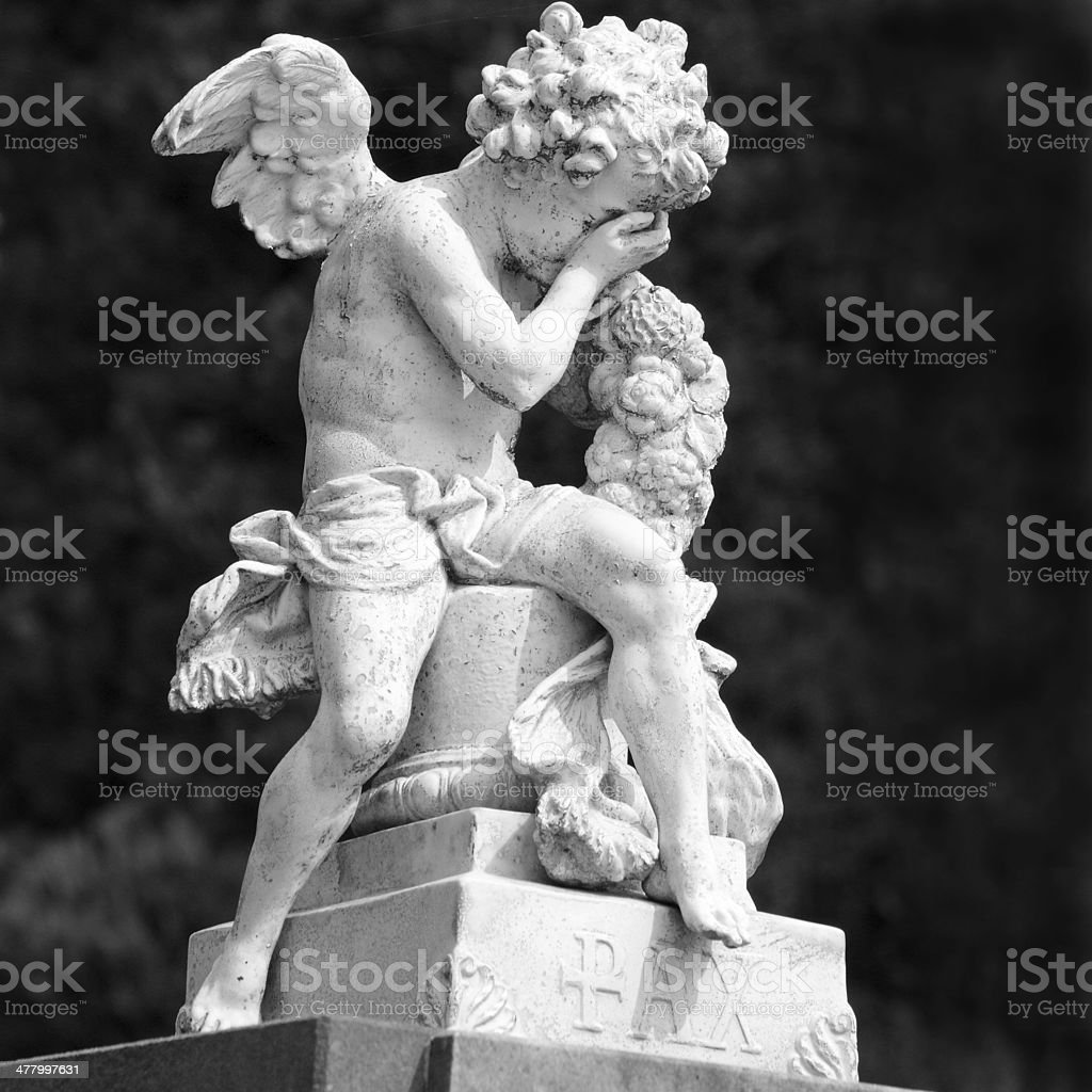 crying  angel statue royalty-free stock photo