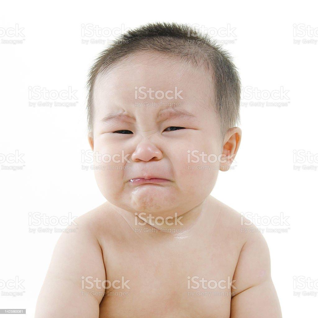 Crying baby royalty-free stock photo