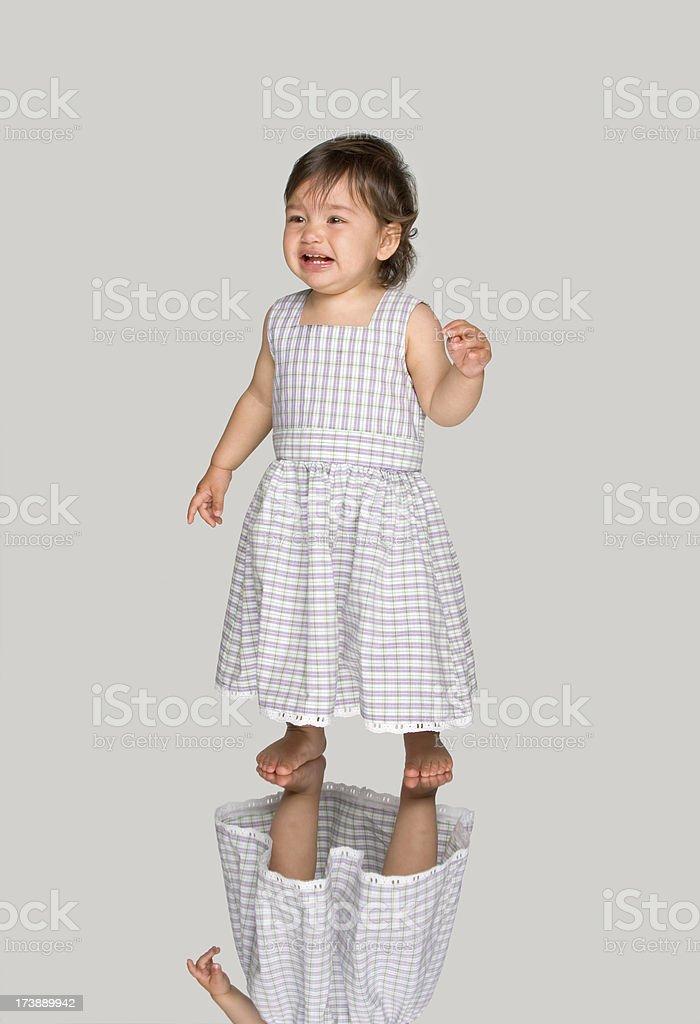 crying baby stock photo